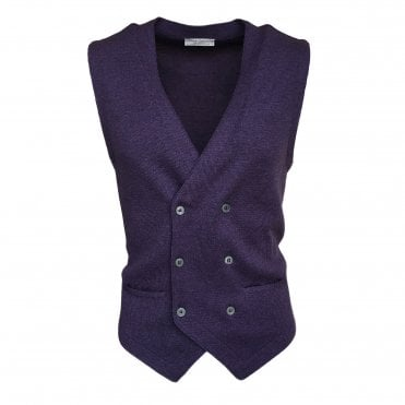 Robert Fuller Purple Double Breasted Waistcoat