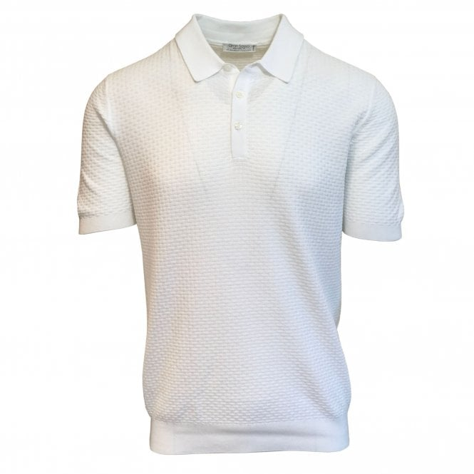 Gran Sasso Expressly For Robert Fuller Robert Fuller White Knitted Polo