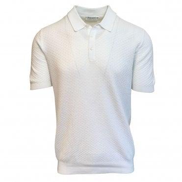 Robert Fuller White Knitted Polo