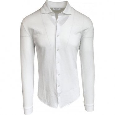 Gran Sasso Expressly For Robert Fuller White Leisure Shirt In Italian Cotton 60120 81402 815