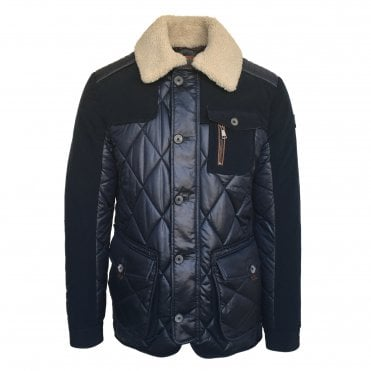 Handstitch Navy 'Kent' Shearling Jacket