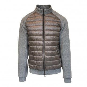 Herno Beige Quilted Body Woven Jacket