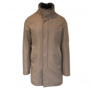 Herno Beige Wool Car Coat
