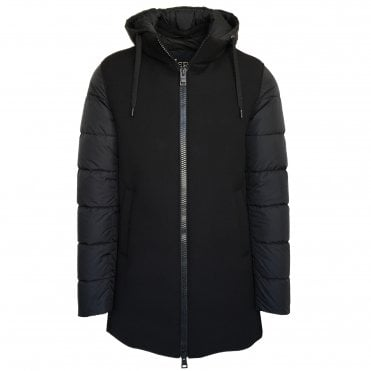 Herno Black Quilted Parka