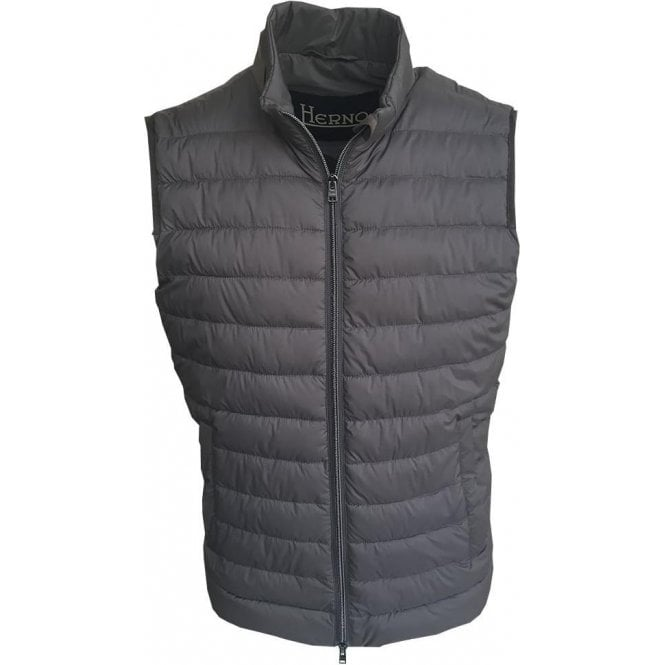 Herno Grey In-Tech Alternative Down Gilet PC0069U-19288-9465