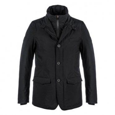 Herno Laminar Gore-Tex Black Padded Coat P1074UL 11121 9300
