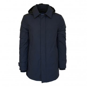 Herno Laminar Navy Raincoat