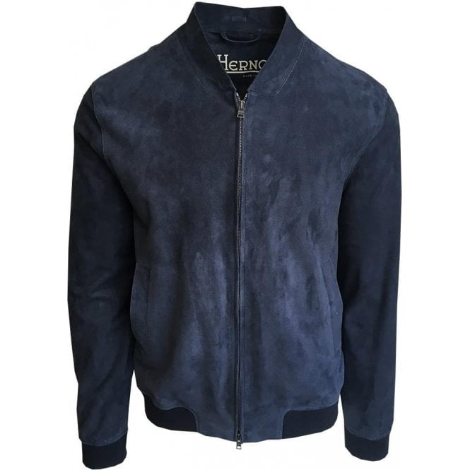 Herno Navy Goat Leather Jacket PL0062U-18054-9202