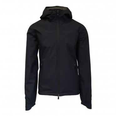 Herno Navy Hooded Laminar Jacket
