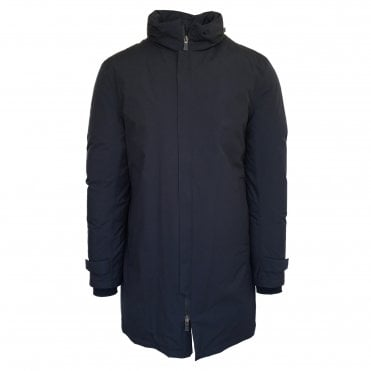 Herno Navy 'Laminar' Raincoat