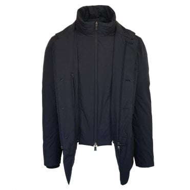 Herno Navy 'Laminar' Scooter Jacket