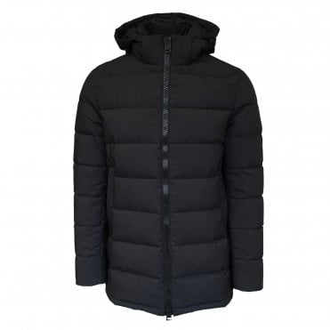 Herno Navy Quilted Half Coat