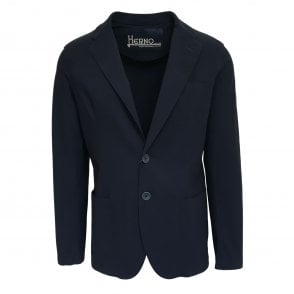 Herno Navy Single Breasted Blazer