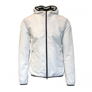 Herno White Hooded Jacket with Contrasting Trim