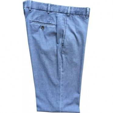 Hiltl 'Parma' Contemporary Fit Denim Blue Chinos 73367 44
