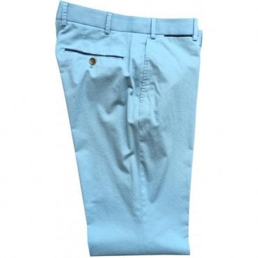 Hiltl 'Peaker' Aqua Blue Contemporary Fit Chinos 73295 47