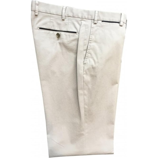Hiltl 'Peakers' Contemporary Fit Beige Stretch Cotton Chinos 72519 36
