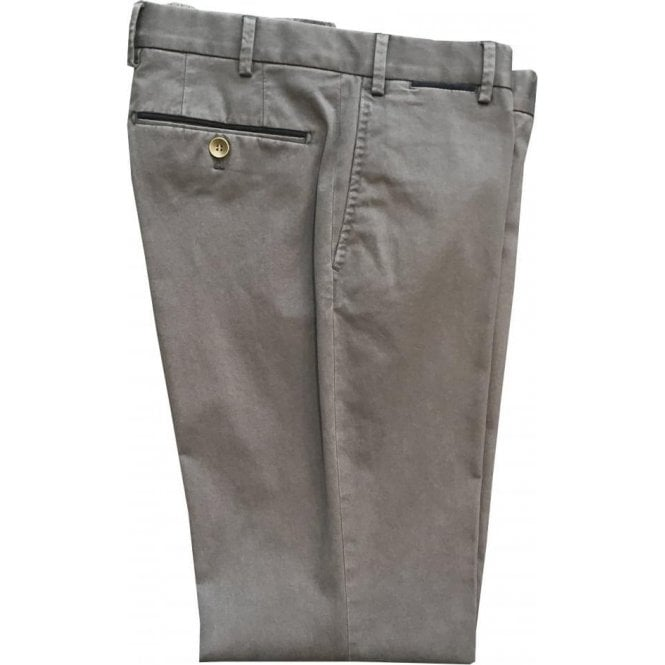 Hiltl 'Peakers' Contemporary Fit Grey Stretch Cotton Chinos 72519 10