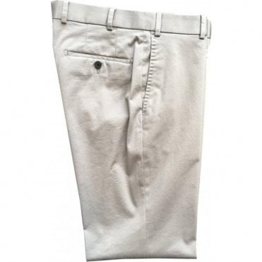 Hiltl 'Porter' Contemporary Fit Silver Grey Chinos 73721 13