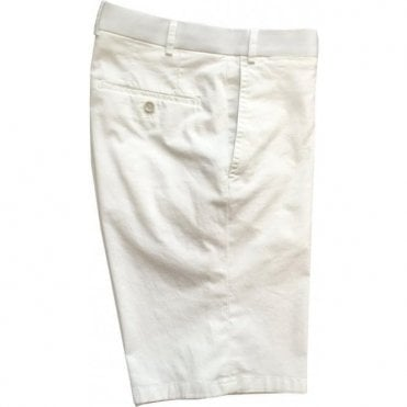 Hiltl 'Pulia' White Stretch Cotton Shorts 73649 99
