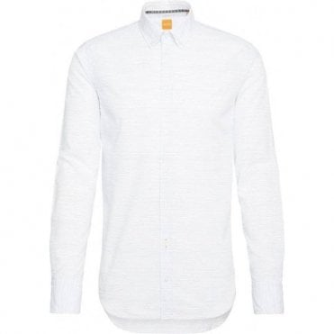Hugo Boss 'EPREPPY' Slim-Fit Striped White Shirt 50329408