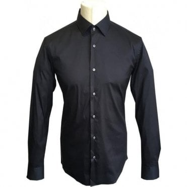 Hugo Boss 'Jerris' Black Slim Fit Stretch Cotton Shirt 50380192