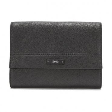 Hugo Boss 'Traveller_Washb' Black Washbag In Soft Grained Leather 50375132