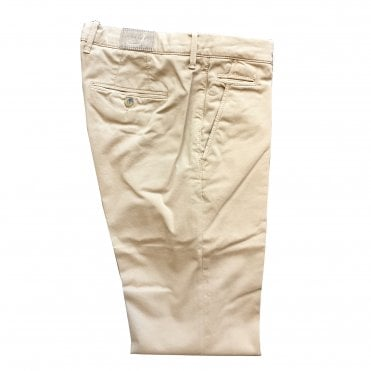 Jacob Cohen Beige Chino with Beige Badge Bobby Bo Stitch