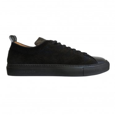 Jacob Cohen Black Pony Leather Trainer