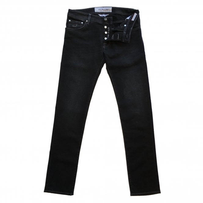 Jacob Cohen Black Wash Denim Jean with Black Badge