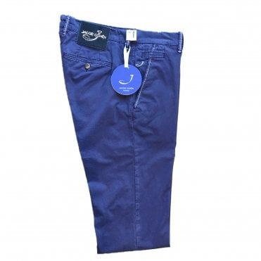 Jacob Cohen Blue Chino with Blue Badge Bobby Bo Stitch