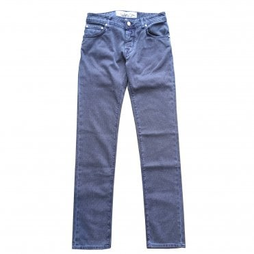 Jacob Cohen Blue Jeans With Royal Blue Badge