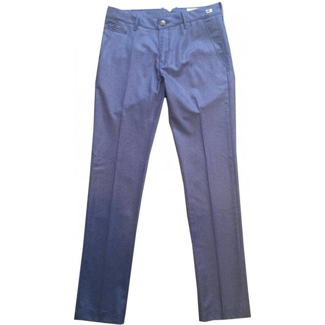 Jacob Cohen 'Bobby Wool' French Blue Wool Trousers 0802 857