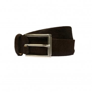 Jacob Cohen Brown Horse Hair Belt