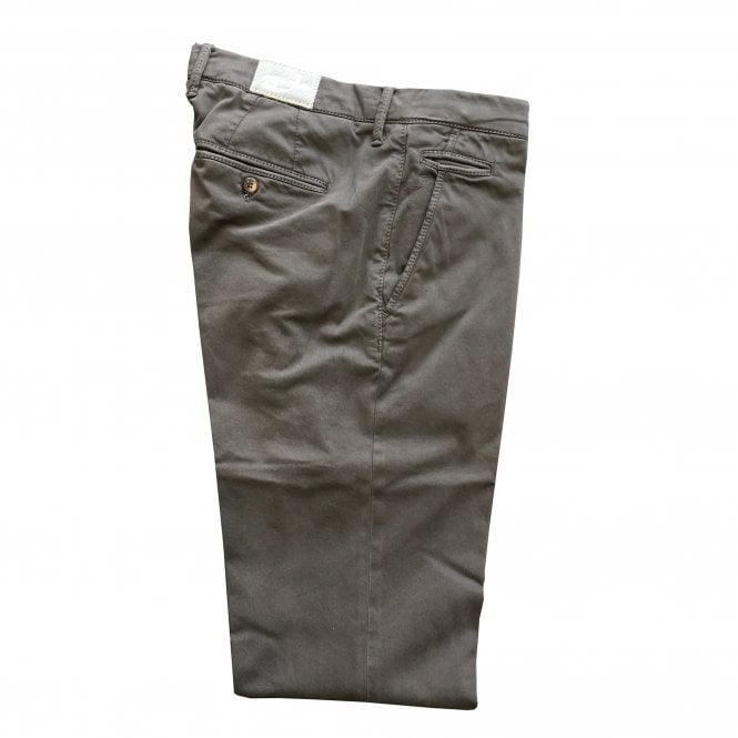 Jacob Cohen Dark Grey Chino with Silver Badge Bobby Bo Stitch
