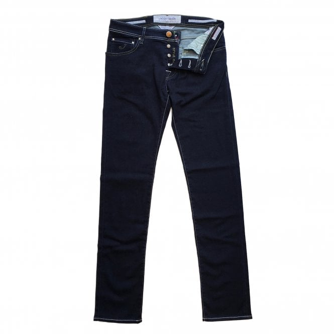 Jacob Cohen Dark Jean with Green Badge