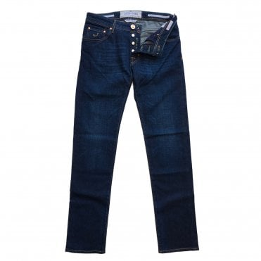 Jacob Cohen Dark Wash Jean with Bullet Badge