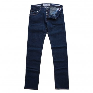 Jacob Cohen Dark Wash Jean with Rainbow Badge