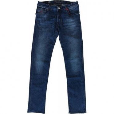 Jacob Cohen Denim Jeans With Italian Flag Back Belt Loop J622 Flag Comf 0514 003
