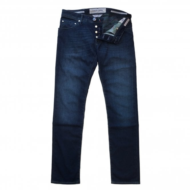 Jacob Cohen Denim wash Jean with Printed Interior