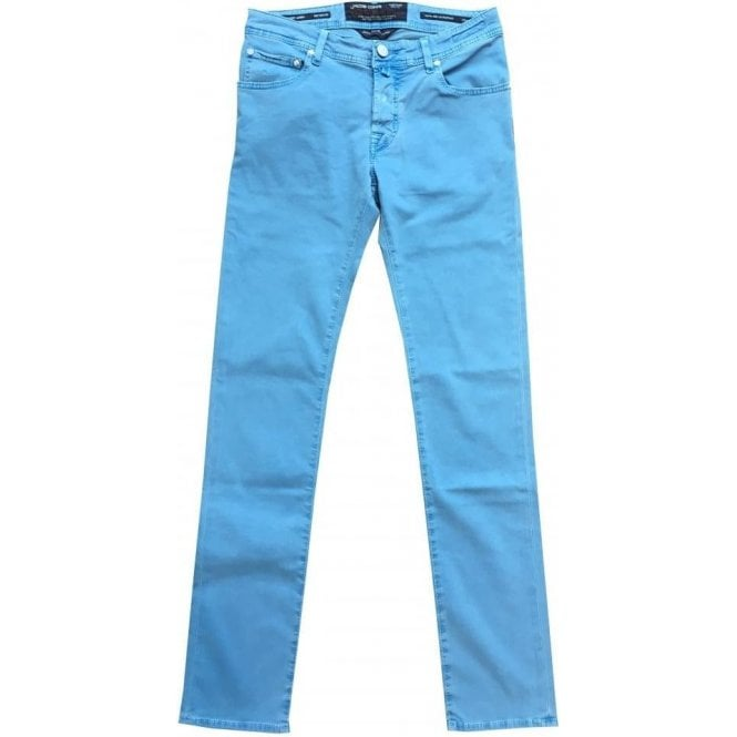 a7d5ee7d6560d1 Jacob Cohen Garment Dyed Sky Blue Stretch Jeans J622 BR COMF 0566-801