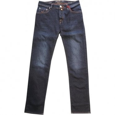 Jacob Cohen 'Holiday C Portofino' Dark Denim Jeans With Italian Holiday Back Belt Loop J622 6152-005