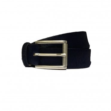 Jacob Cohen Ink Blue Horse Hair Belt