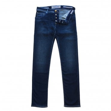 Jacob Cohen Light Indigo Wash Jeans with Blue Badge