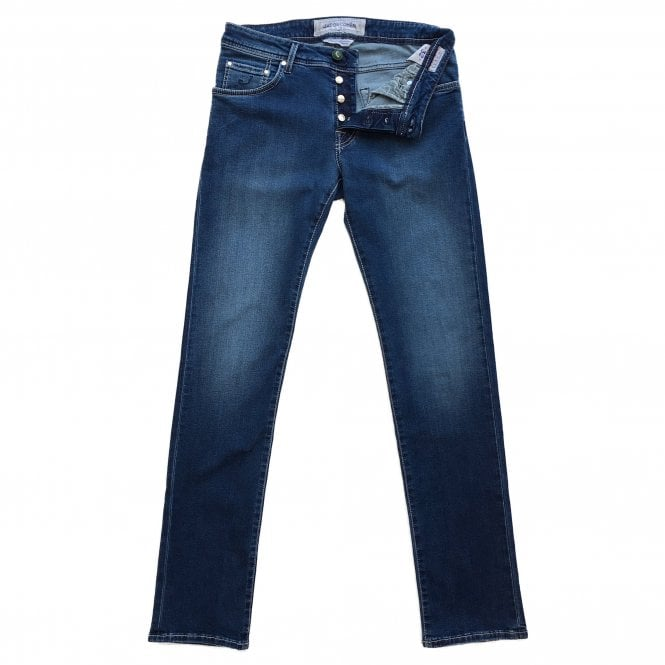 Jacob Cohen Light Wash Denim Jean with Green Badge