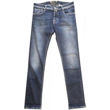 Jacob Cohen Limited Edition Natural Indigo Wash Stretch Denim Jeans J622 LTD COMF 8792-001