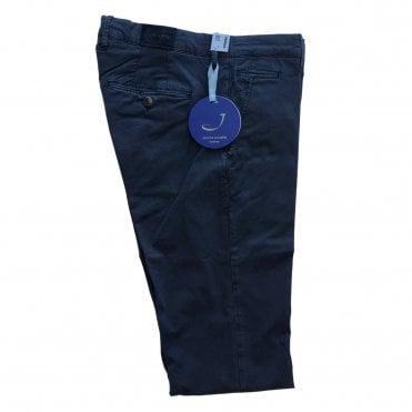 Jacob Cohen Navy Chino with Navy Badge Bobby Bo Stitch