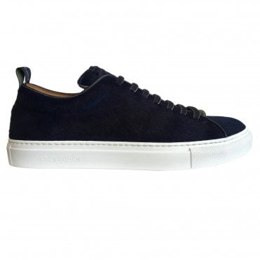 Jacob Cohen Navy Pony Leather Trainer