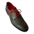 Jeffery West 'HANNIBAL' Rounded Brogues in Olive.