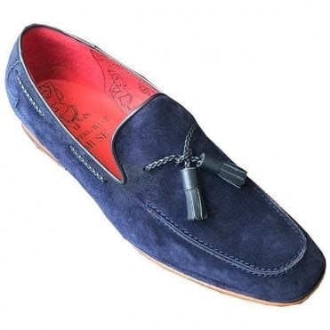 Jeffery West Navy Suede Shoe